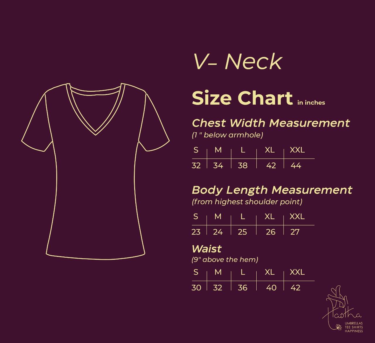 Women's T-shirt / Tops size chart